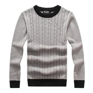 high quality Brand park Sweaters O-Neck Thick Warm Pullover Men Casual Striped Sweater Autumn Winter Knitwear Pull Homme eden