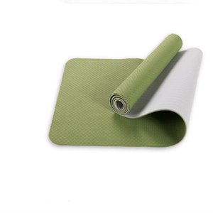 6mm thick TPE monochrome yoga mat sports mat environmental protection and tasteless non-slip fitness outdoor mat