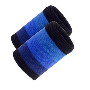 1 Pair of Sports Wristband Durable Sweat Absorbent Comfortable Sweatbands Wrist Protector Sports Bands for Football Running
