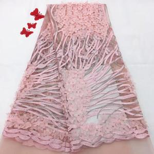Şık Elegance Düğün Dantel Kumaş 3D Çiçek Kumaş Işlemeli Gelin / Evinging / Göster Elbise Dantel TS9029