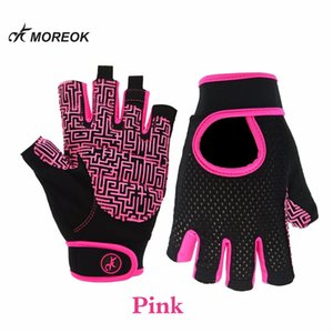 Lycra Gym fitness workout weight lifting gloves Breathable anti-slip plam with adjustable strap Q0107
