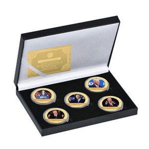 Joe Biden Gold Plated Coin Collectibles with Coin Holder USA Challenge Coins President Original Coin Medal Gifts for Dad OOE3158