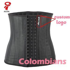 AICONL 라텍스 허리 트레이너 코르셋 배꼽 플러스 슬림 벨트 바디 셰이퍼 모델링 스트랩 바디 Ficelle 허리 Cincher Fajas Colombianas 201222