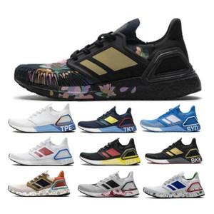 Ultraboost 20 UB 6.0 2020 Erkek Tenis Koşu Ayakkabıları Şehir Paketi Tokyo Çin Yeni Yıl Siyah Kadınlar Otantik Açık Eğitmenler Ayakkabı Sneakers