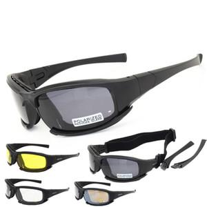 Motosiklet Bisiklet Gözlük Ordusu Polarize Güneş Gözlüğü Avcılık Çekim Erkekler Göz Koruma Rüzgar Geçirmez C5 X7 Moto Gözlük