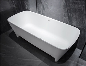 Modern Environmental Protection Acrylic, Bath, Classic Oval, European Retro Integrated Bathtub of Matte or Light
