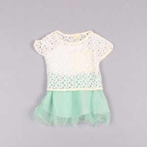 Clearance sale Summer Lace girls suits princess girls outfits girls dress+Tops 2pcs set kids dress suits kids clothes Z208