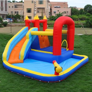 Fast Delivery Inflatable Water Slide Pool Jumping Bouncer Castle With Air Blower Carry Bag for Kids indoor outdoor Bounce House w  Ball Pit
