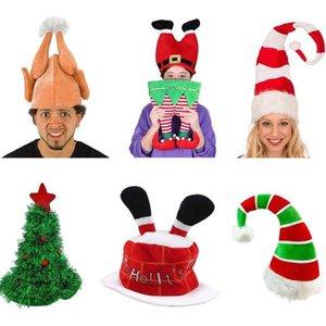 Pantalon rouge Jester en peluche Elf Chapeau de Père Noël Ornement Décoration de Noël Cap Turquie Chapeaux Xmas Party Props