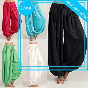 Plus Size Solid Color Casual Loose Harem pants women Trousers joggers pantalones de mujer #V35