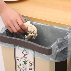 Creative Folding Trash Can Kitchen Cabinet Door Wall-mounted Thickened Trash Storage Bin Toilet Classification Trash Bin
