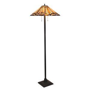 LB Lighting Tiffany style 2 lamp floor lamp for living room, bedroom, 100.00watts, 120.00 Volts