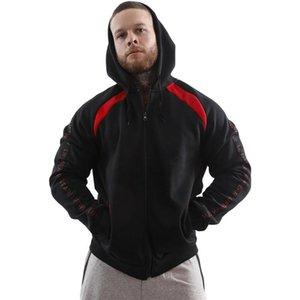 2020 nuevos hombres europeos y americanos Sudadera con capucha espesada con cremallera con capucha con capucha Hip Hop Men's Gym Top
