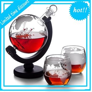 Bottiglia Globo Whisky Decanter con Stand in legno Aeratore Vino Vino Alcohol Vodka Dispenser Liquor Arsacchiotto Strumenti bar