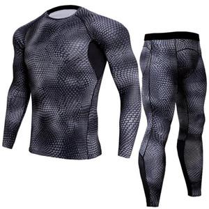 Eşofman Erkekler Takım Elbise Spor Sıkıştırma Iç Çamaşırı Rashgard Erkek Eğitim Pantolon Spor Gömlek Egzersiz Koşu Takım Koşu Kıyafetleri Boyutu S-3XL