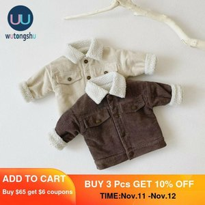 Kız Giyim Kış Y1113 aby Çocuk Boys Kız Sıcak Ceket Uzun Kollu Katı Renk Sonbahar Bebek Coat Kalınlaşmak Kabanlar Casual