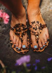 2021 Sandales Sandales Femmes Liches Léopard Womans Retro Gladiateur Zipper Flip-Flop Sandales Dames Plus Tailles Extra Léopard Bohême Hot