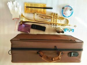 A estrenar Professional LT180-43 BB Trumpet Instruments Golden Tallado Brass Instrumento musical BB Trumpet Envío gratis