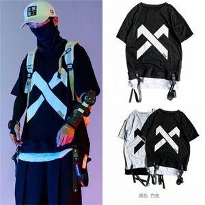 Street hiphop loose national fashion oversize half sleeve hip hop short sleeve men's fashion brand T-shirt 5-point sleeve fashion