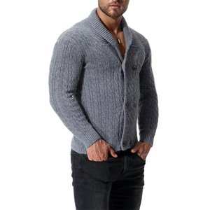 Varsanol algodón suéter hombres manga larga jerseys Outwear hombre suéteres 201221