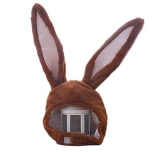 Funny Long Ears Plush Hood Hat Stuffed Toy Cosplay Costume Headgear X5XA