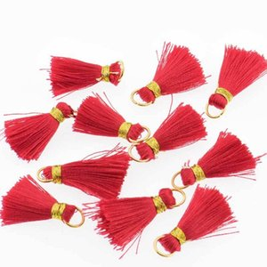 30pcs Mini Polyester Silk Tassel DIY Boho Bijoux Faire fournitures Bracelet Collier Trouver Fringe Garniture Pendentifs Petits Tassels H Bbybaq