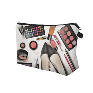 NEW Lady Organizer Pouch Storage Makeup Bag Gifts Women Zipped Eyeshadow Lipstick Printing Travel Cosmetics Bag