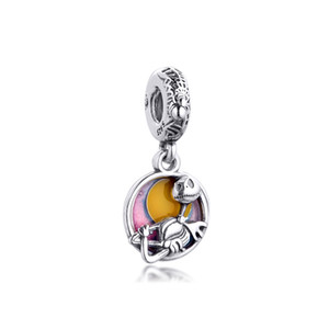 2020 Winter Fits Pandora Bracelet Nightmare Before Christmas Double Dangle Charm Real 925 Sterling Silver Beads for Women Jewelry DIY Making
