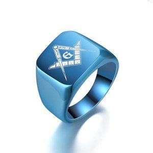 Hot Sale Vintage 316L Stainless Steel Casting Masonic Ring Master Masonic Signet Ring Free Mason Jewelry Wholesale