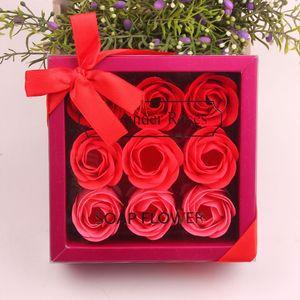 Valentine Day Rose Geschenk 9 Stück Seife Blume Rose Box Hochzeit Mutter Tag Geburtstag Tag Künstliche Seife Rose Geschenk GGE3828-2