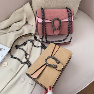 Crossbody Bags For Women Leather Handbags Ladies Messager Shoulder Bag Chain Zipper Closed Fashion Designer Sac A Main 201204