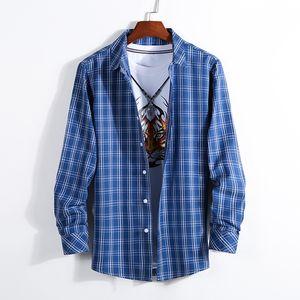 UCAK Marke Streetwear Langarm Hemden Männer Kleidung Homme 2020 Herbst Mode Streetwear Abzugskragen Hemd Kleidung U6085