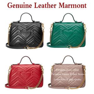 Marmont Tote Bag Handbag Fashion Chain Shoulder Crossbody Bags Purse Women's Genuine Leather LOVE Heart High Quality Portable Hand Bags