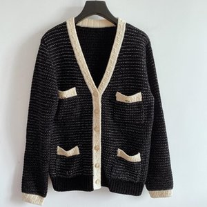 2020 Milan Pullway Pull Vol Vol À Manches longues Pull Femmes High End Jacquard Cardigan Femmes Designer Pull 1018-16