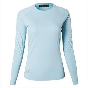 Jeansian Womens UPF50 UV Outdoor Sport Tee Shirt T Shirt Tshirt Long Sleeve Beach Summer SWT246 LightBlue