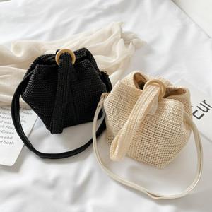 Designer-2020 Fashion Small Straw Bag Trend Design Crossbody Bags For Women Summer Shoulder Bag Female Travel Handbags Totes