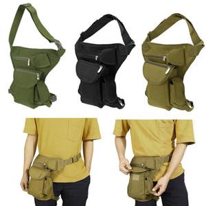 Men Canvas Drop Leg Bag Outdoor Climbing Waist Pack Belt Hip Bum Bags Multipurpose Messenger Cycling Tactical Bag