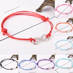 DIY Antique Silver Infinity Colored Cotton Waxed Cord Friendship NEW Love Hand made Weave Adjustable Bracele