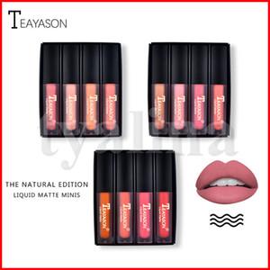 Teayason Lip makeup Lip Gloss Lipgloss Kit Naturel Nude Edition Mini Liquid Matte Lipstick 4pcs set