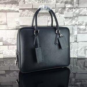 Luxury 5A Мужские Ноутбуки 8018 Сумки Crossbody Messenger Портфель Сумка Кожаное Плечо Бизнес Портфели для Человек Мода Бренд Сумки