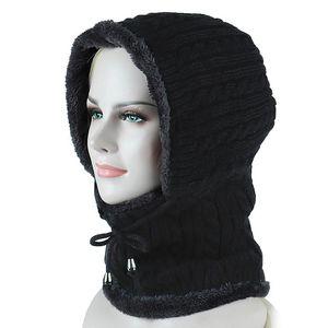 Winter Fleece Thermal Skiing Hat Snowboarding Mask Cover Keep Warm Windproof Hiking Ski Caps Men Women Balaclava Neck Scarf