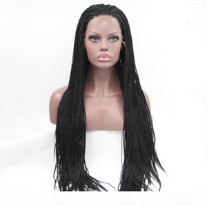 Synthetic Braided Lace Front Wigs For Women Heat Resistant Fiber Hair Wigs Premium Braid Wig