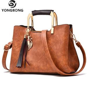 YONGBONG Vintage Pu Leather Women bagTassel Messenger Bag Top-Handle Bags Mummy Package Bolsa Feminina Sac a Main Bolso