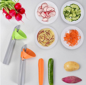 Термальная многофункциональная мероприятия с двумяглавленными решетками с точностью 3 в 1 овощной жарие Спираль резает резает кухонный инструмент Zyy477
