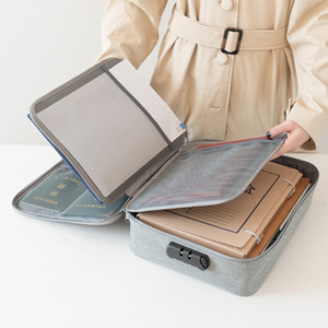 Waterproof Travel Document Card Storage Bag Zip Lock Men Women Luggage Organizer Wallet Passport Organize Bags Home Handbags T200710