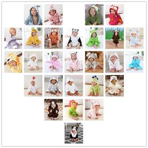 Милый новорожденный ребенок с капюшоном пижама животных халат мультфильм детское полотенце дети ванна мода робин младенческий малыш банные полотенца LLS302