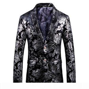 Lozoga Blazer Men Designs Mens Blazers Fashion Slim Fit Suit Jackets Velvet Party Wedding Stage Prom Toastmaster For Man