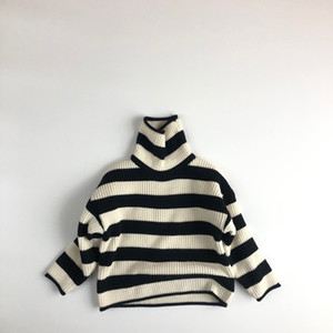 Free DHL INS New Arrival Quality Girls Boys Striped Knitted Sweaters Winter Full Sleeve Fashion kids Pullover Sweater 1-6 Years