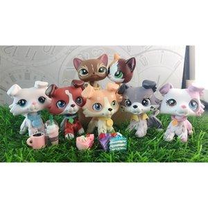 Pet Shop sorvete Diferente olhos castanho e azul rosa collie personalizado com mini acessórios 201202