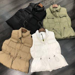 Autumn Winter Women's Vest 2021 Simple Lace Coat Women Casual Loose Cotton Waistcoat Gilet Female Double Breasted